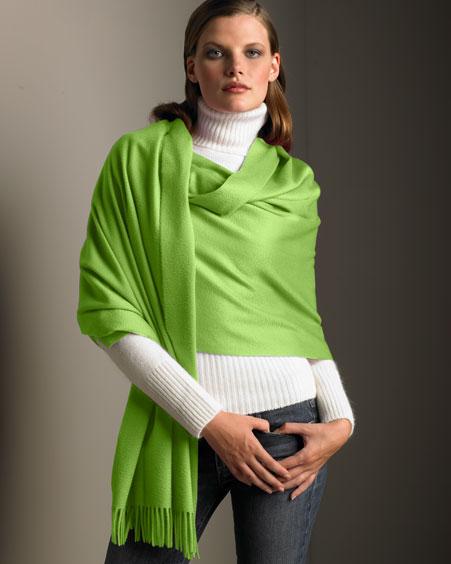 Как носить длинный шарф (палантин, столу) .