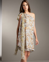 One Shoulder Draped Dress -  Bergdorf Goodman :  peter som dress usa draped