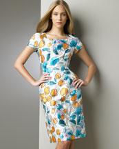 B0T7G Dolce & Gabbana Tulip-Print Dress