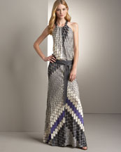 B0UGY Missoni Long Halter Dress