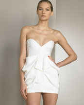 Strapless Silk Shantung Dress -  Bergdorf Goodman