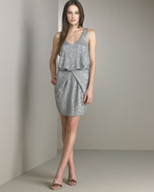 B0URQ Donna Karan Collection Slouchy Tie Sequin Dress