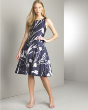 B0UV0 Ralph Lauren Black Label Jodie Printed Mikado Dress
