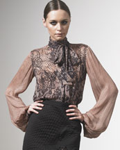 Lace Print Blouse
