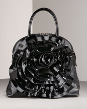 V099R Valentino Patent Petale Dome Bag