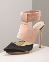 Two-Tone Pump -  Bergdorf Goodman :  platform cutout shoes ankle strap