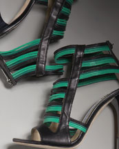 Rope High-Heel Sandal -  Bergdorf Goodman :  italy covered heel high heel ankle