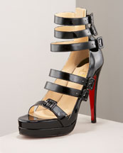 123 Double Platform Sandal- Bergdorf Goodman :  platform sandal pump christian louboutin