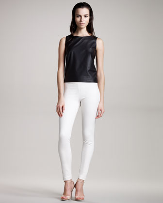 Women's The Row Zip-back Leather Top