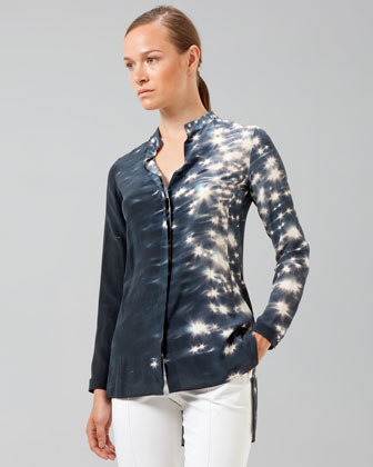Akris Reflecting Sun Printed Tunic