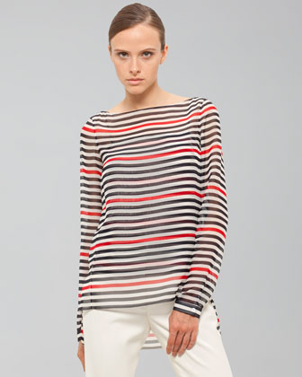 Akris Boat-neck Blouse With Camisole