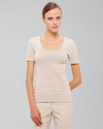 Akris Striped Short-sleeve Tee