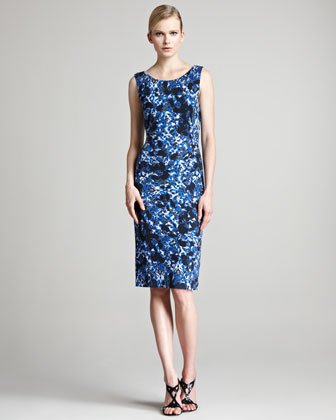 Corel Floral-Print Jersey Dress