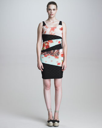 Bias-Sectioned Sheath Dress