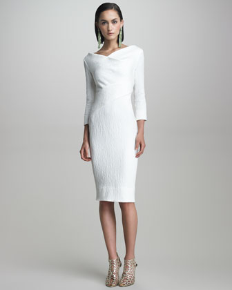 Crimped Cotton Dress