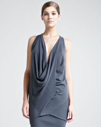 Donna Karan Cashmere Draped Top