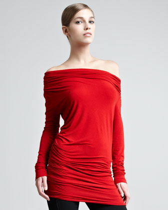 Donna Karan Off-the-shoulder Long-sleeve