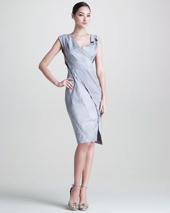 Donna Karan Mineral Paper Crushed Dress