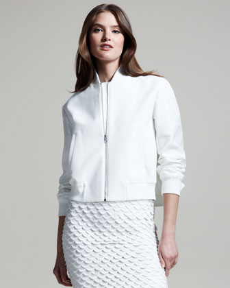 Stella Mccartney Pique Bomber Jacket