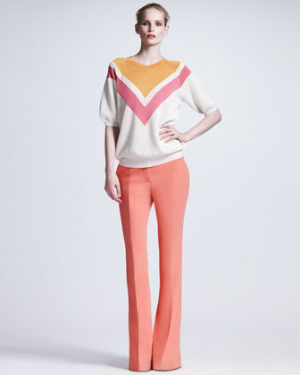 Boot-Cut Cady Trousers