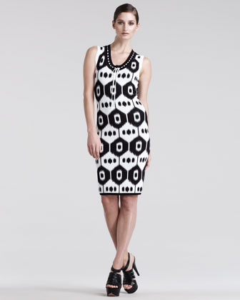 Dust Ikat-Print Jersey Dress
