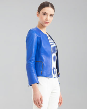 Napa Lambskin Jacket, Royal Blue