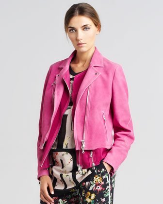 Trompe l'Oeil Layered Biker Jacket