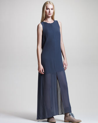 Brunello Cucinelli Sleeveless Silk Gown