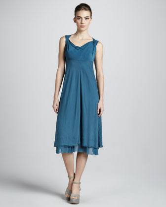 Donna Karan Draped Empire-waist Dress, La