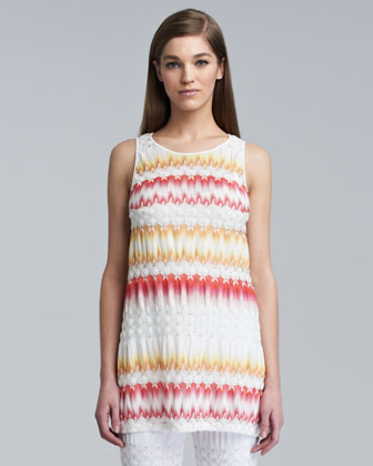 Missoni Sleeveless A-line Tunic, Flame/ye