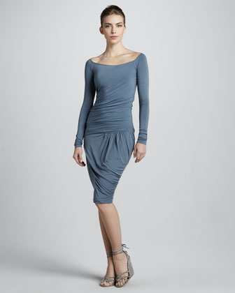 Donna Karan Draped Drop-waist Dress, Temp