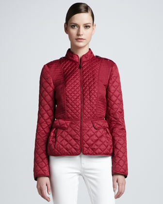 Quilted Slim Zip-Front Jacket