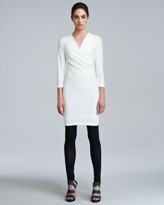 Donna Karan Three-quarter-sleeve Draped T