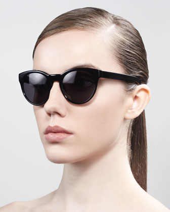 Alivia Cat-Eye Sunglasses, Black