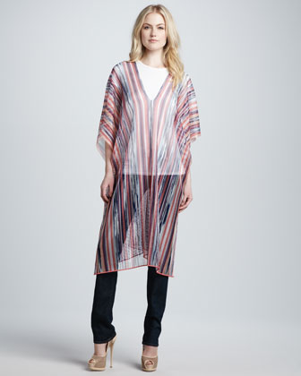 Missoni Long Lightweight Sheer Striped Po