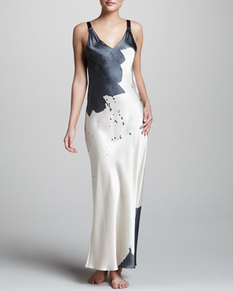 Donna Karan Twilight Two-tone Silk Gown