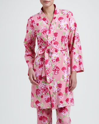 Bedhead Cabbage Rose Knit Robe