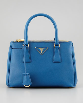 Saffiano Small Executive Tote, Blue