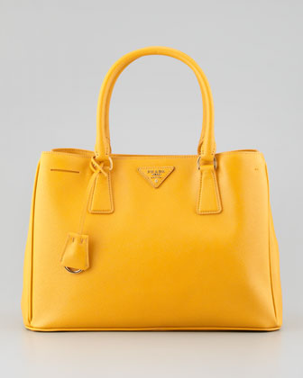 Saffiano Lady Tote Bag, Bright Yellow