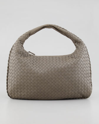 Medium Veneta Hobo Bag, Medium Gray