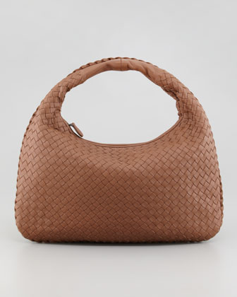 Medium Veneta Hobo Bag, Light Brown