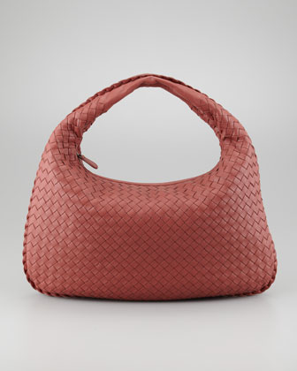 Medium Veneta Hobo Bag, Rose