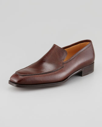 Apron-Toe Leather Slip-On