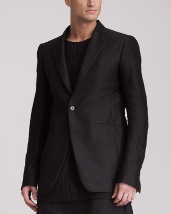 Men's Rick Owens One-button Soft Jacket