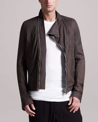 Women's Rick Owens New Safari Biker Jacke