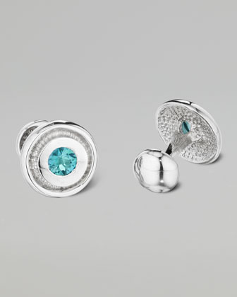 Paraiba Topaz Bearing Cuff Links