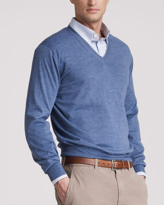 V Neck Sweater With Dress Shirt 19