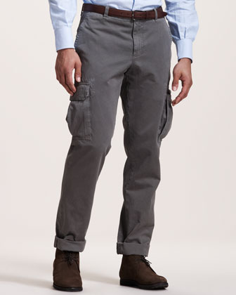 Basic Cargo Pants, Gray