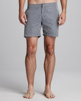 Orlebar Brown Beagle Surf Shorts, Navy