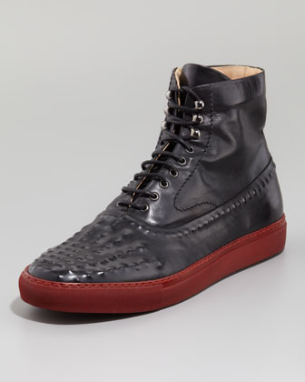 Men's Alexander Mcqueen Riveted High-top